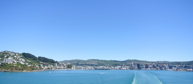 Wellington Writers' Walk and CBD (Central Business District)